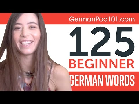 Learn 125 Beginner German Words with Alisa! German Vocabulary Made Easy