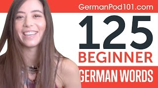 Learn 125 Beginner German Words with Alisa! German Vocabulary Made Easy