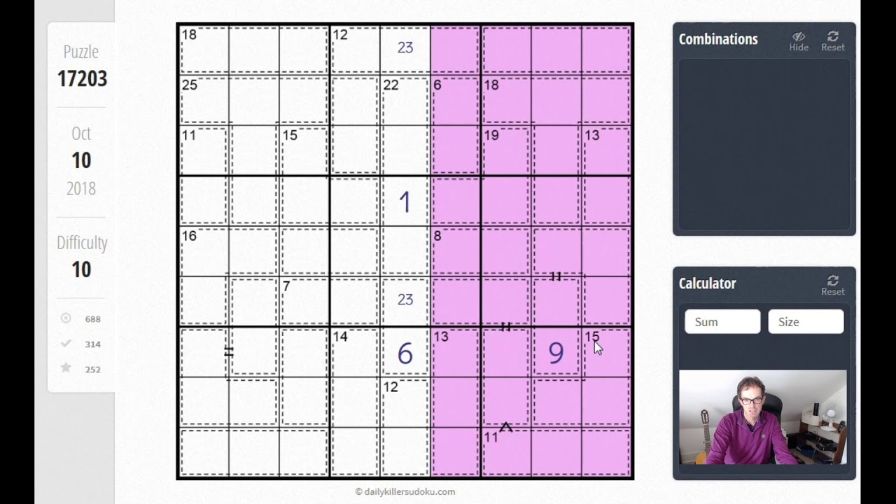 Greater Than Killer Sudoku: Another extremely hard puzzle