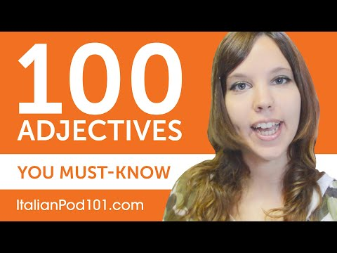 100 Adjectives Every Italian Beginner Must-Know