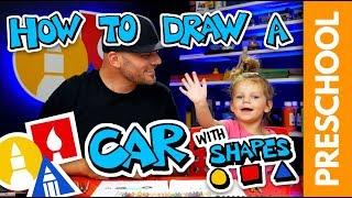 Preschool: Drawing A Shape Car With Olivia Rectangle & Circles