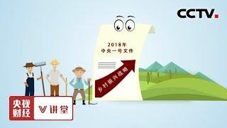 《央视财经V讲堂》 20190712 乡村振兴如何解决好人 钱 地的问题?| CCTV财经