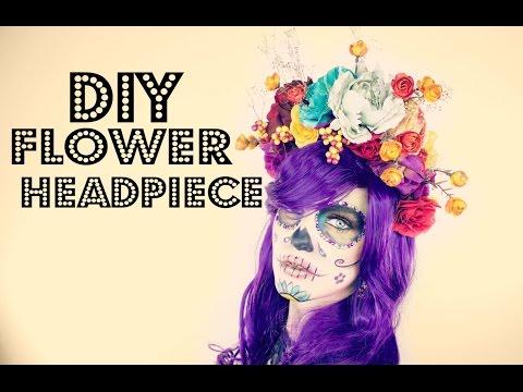 DIY Flower Headpiece | Day of the Dead | Dia de los Muertos