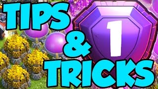 2017 CLASH OF CLANS TIPS AND TRICKS TO PUSHING TO LEGENDS/ CLASH OF CLANS STRATEGY