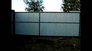 видео Откатные ворота Дмитров под ключ- Заказать автоматические раздвижные ворота в Дмитрове