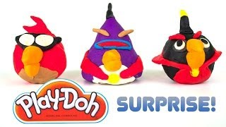 Opening Play-Doh Angry Birds SPACE Surprises!