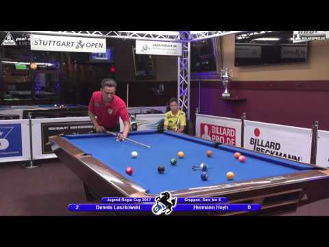 Stuttgart Open, Regio-Cup 2017, No. 02, Dennis Laszkowski vs. Hermann Hoyh, 10-Ball, Pool-Billard