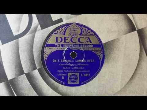 "Elsie Carlisle - ""On a Steamer Coming Over"" (1933)"