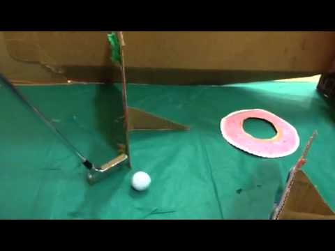 Cardboard Mini Golf Youtube