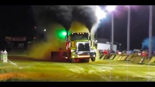 Awesome Battle of the BlueGrass Tractor and Truck Pull Grant County Kentucky Oct 2016