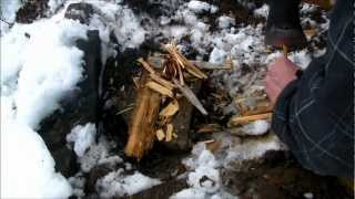 How to find dry wood when it´s wet outside.