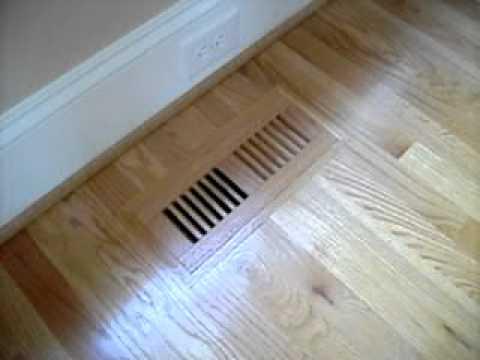 Wood Floor HVAC Register