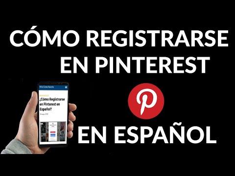 Cómo Registrarse en Pinterest