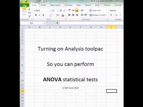 how to use analysis toolpak vba excel 2007