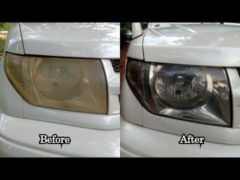 How To Restore Headlights  -  Mitsubishi Pajero Head Light Restoration