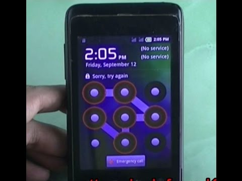 Karbonn A45 pattern unlock by Hard Reset
