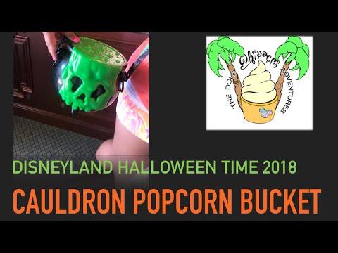 Disneyland Halloween Popcorn Bucket 2018.Disneyland Halloween Time 2018 Cauldron Popcorn Bucket