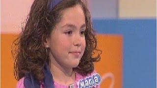 """María Parrado, con ocho años, por primera vez en """"Menuda Noche"""""""