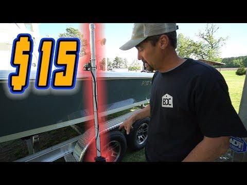 $15 Panoptix Livescope Rotating Mount Build For A Boat