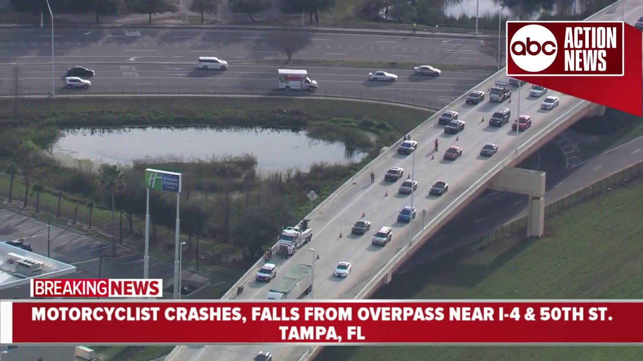 Motorcyclist falls from Tampa overpass in fatal hit-and-run involving  another motorcycle