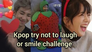 KPOP try not to laugh or smile challenge! (actually funny)
