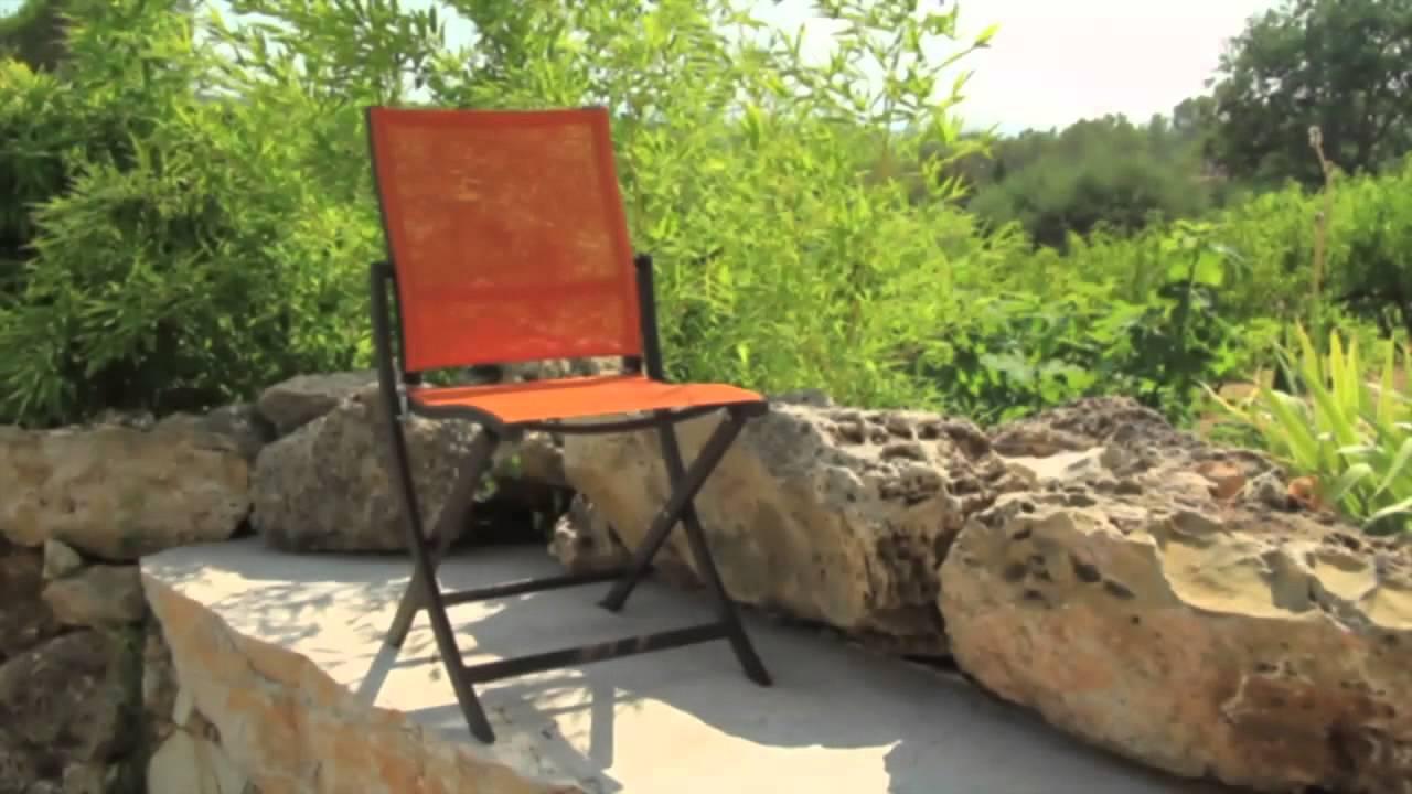 Chaise pliante TEASER - Les Jardins© Chaise d\'extérieur design