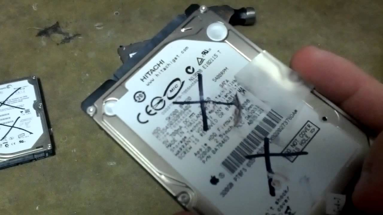 How to destroy a hard drive quick and dirty way  YouTube