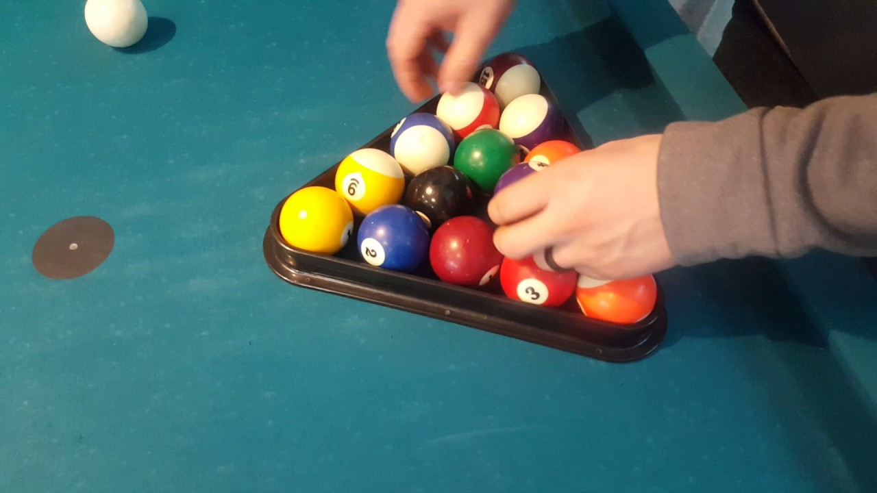 How To Properly Place The Balls In A Rack For The Pool Table YouTube - How to rack a pool table