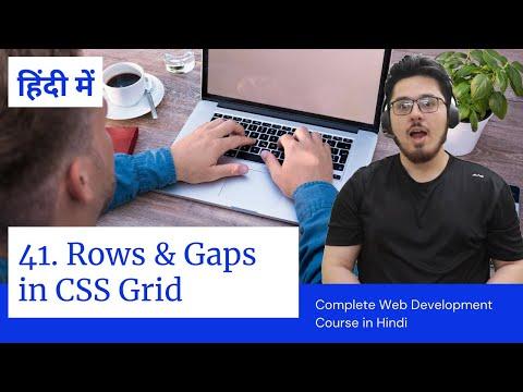 CSS Grid: Creating Rows & Gaps In Grid | Web Development Tutorials #41