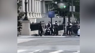 Eyewitness films arrest of man shot by Secret Service outside White House