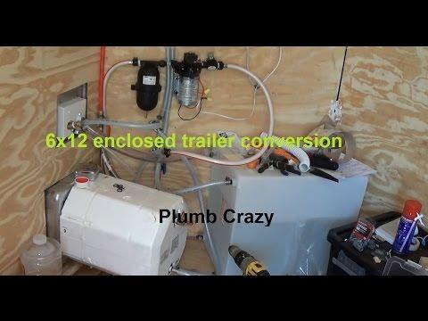 6x12 Enclosed Trailer Conversion Plumbing