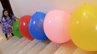 shfa Pretend Play with ballon  and Learn Colors for Children