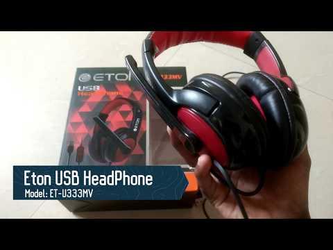 Eton USB Head Phone ET-U333MV Review, is it budget friendly ? (Tamil)
