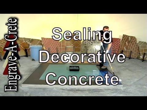 Basic Decorative Concrete Staining