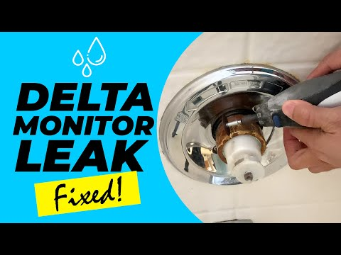 delta-monitor-1400-cartridge-shower-stuck-handle-faucet-leak-fix-how-to