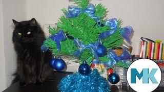 Делаем новогоднюю елку из гофрированной бумаги