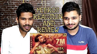 NGK - Official Teaser (Tamil) Reaction And Review | Suriya, Sai Pallavi Rakul Preet | M Bros India