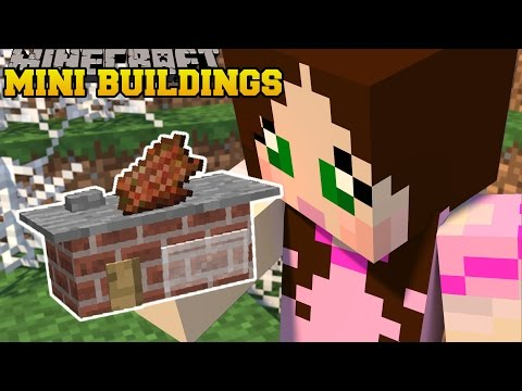 Minecraft: MINI BUILDINGS (SMALLEST BUILDINGS EVER!) Custom Command
