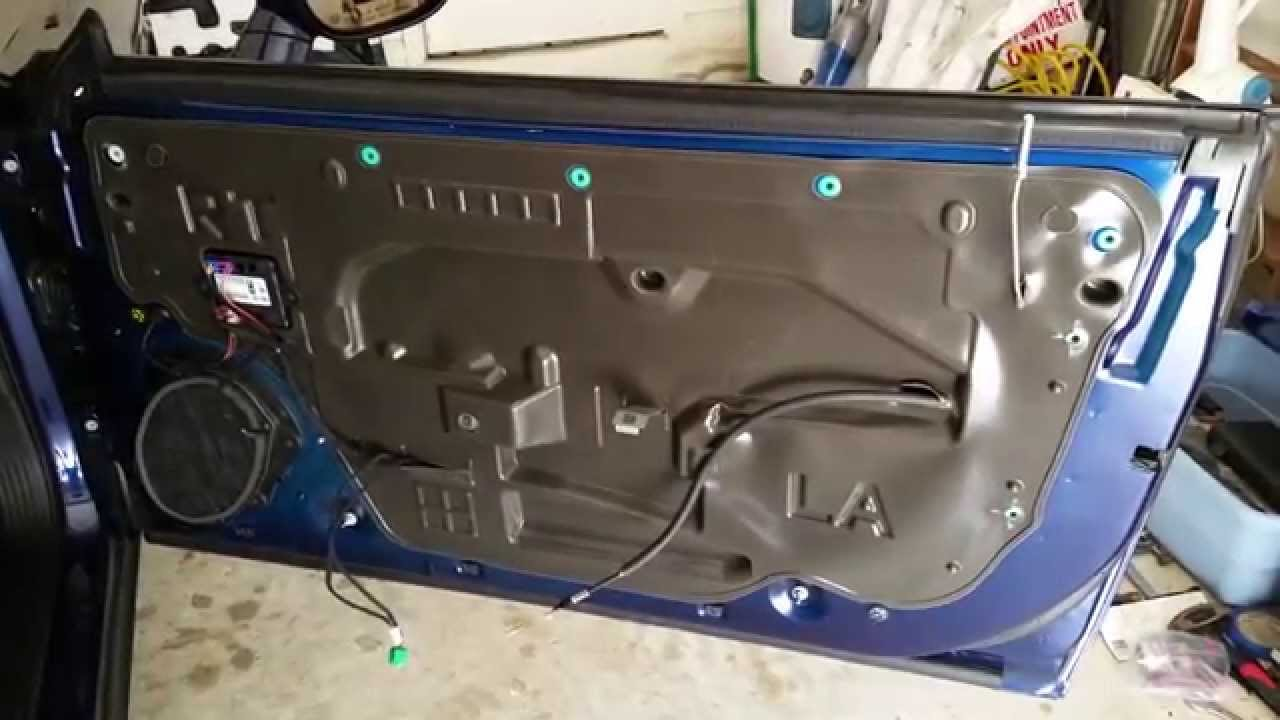 2008 2015 Dodge Challenger Metal Door Frame   Take Off Plastic Door Panel  To Upgrade Speaker
