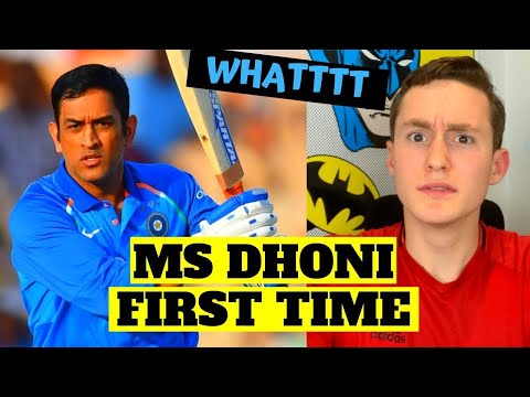 AMERICAN REACTS TO MS DHONI FOR THE FIRST TIME (too much skill...)