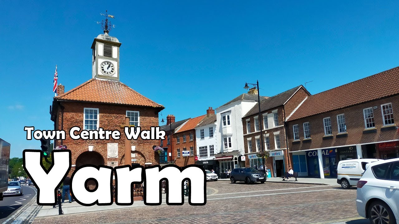 Download Yarm, North Yorkshire【4K】  Town Centre Walk 2021
