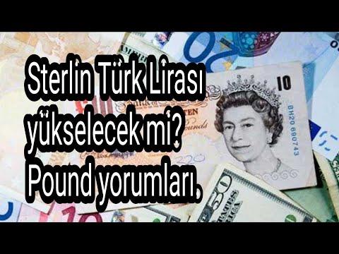 Dikkat!!!Sterlin Türk Lirası yükselecek mi?Pound yorumları.