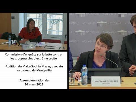 Audition De Maître Sophie Mazas, Avocate Au Barreau De Montpellier.