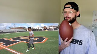 Rugby Player Learns How To Kick An NFL Field Goal!