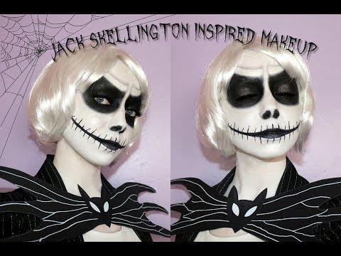 Jack Skellington | Halloween Makeup Tutorial Tim Burton Series 💀🦇 thumbnail