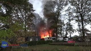 Chalet verwoest na grote brand op camping in Sinderen