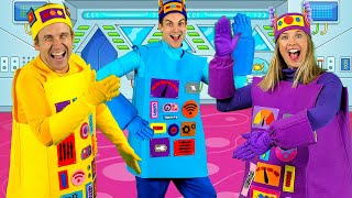 Do the Funky Robot - Robot Dance Kids Song   Actions Songs for Kids