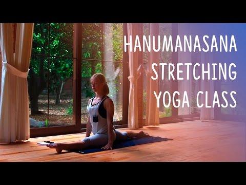 basic leg stretch for hanumanasana split  yoga practice