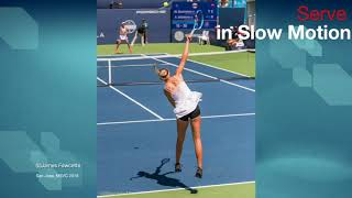 Anisimova Serve Rear Slomo WTA