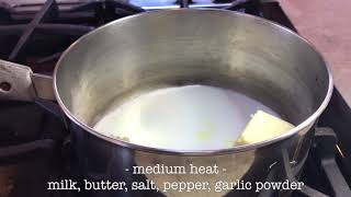 Mashed potatoes. Sauce- step 3.